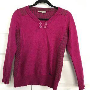 SMARTWOOL Pullover Sweater Pink 100% Merino Wool M